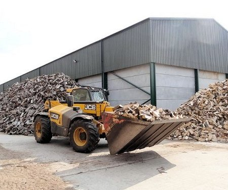 Then this wood is dried in our drying barns.